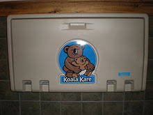 bathroom baby changing table. a public changing table in restaurant bathroom. bathroom baby e
