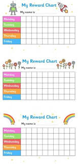 Behavior Chart Printable Template 137 Best Printable Reward Charts Template Images In 2019