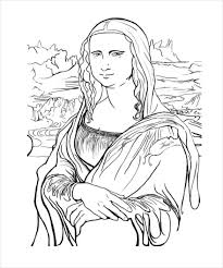Small Picture Mona lisa coloring page adult coloring pages 20 free psd ai vector