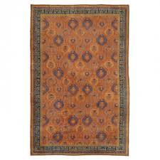 antique mongolian art deco rug 10 x15 5