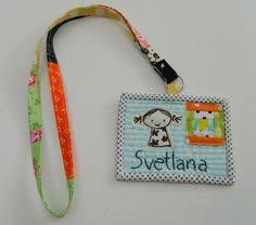 Quilted name tag for Jo of Bearpaw | Quilted Name Tags | Pinterest ... & patchwork lanyard with quilted name tag by s.o.t.a.k handmade: so sweet! Adamdwight.com