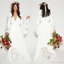 discount 2017 summer beach boho wedding dresses bohemian beach