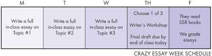a crazy approach to improve teen writing laura randazzo  this routine started because of the pressure my juniors were facing out here in california the required eap essay at the end of the year