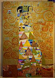 symbolism handmade painting waiting the tree of life gustav klimt