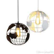 globe pendant lights black white lampshade for kitchen bar dining room restaurant coffee home decoration hanging lamp globe pendant lights simple