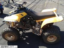 yamaha warrior 350 for sale. 1999 yamaha warrior 350 for sale, missing front headlight and has tear in the seat. runs strong but smokes when first starting. selling only $885 sale