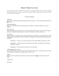 Thank You Letter Mentor Ultramodern Picture Example Formal And Note