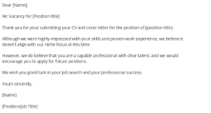 How To Write A Rejection Letter Before An Interview Samples