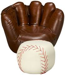 baseball glove chair ottoman jordan s furniture 299 99