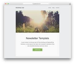 Free Newsletter Layouts 35 Free Responsive Html Email Templates 2019 Colorlib