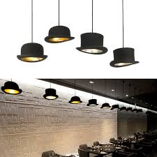 jeeves and wooster authentic bowler and top hat pendant lights