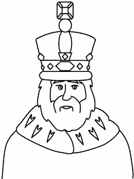 king colouring page