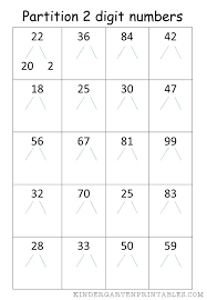 partition 2 digit numbers worksheet free printables partition 2 ...