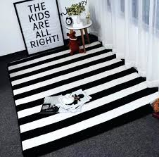 black and white striped indoor outdoor rug simple stripes carpets for living room home bedroom rugs
