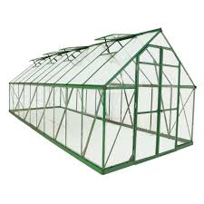 green polycarbonate greenhouse