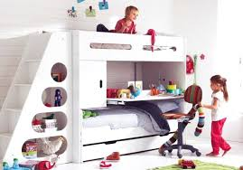 bunk bed with slide and desk. Catchy Kids Bunk Beds With Stairs Bed Slide And Gallery Loft Low . Furniture Graceful Desk