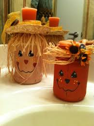8 scarecrow candle jars