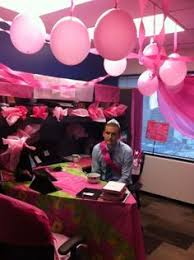 haha pink decor cubicle birthday office decorations