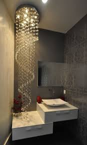 asymmetrical bathroom pendant lighting. Loving The Lights In This Bathroom! Who Says A Small Bathroom Has To Be Dull Asymmetrical Pendant Lighting