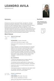 Regional Manager Resume Samples Visualcv Resume Samples Database