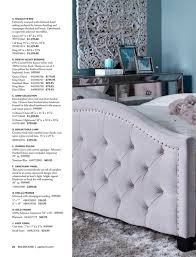 a nicolette bed delicately accented with diamond hand tufting ancd by on detailing and champagne a e d j b