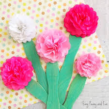 Tissue Paper Flower Tissue Paper Flower Craft Easy Peasy And Fun