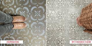 diy stenciled concrete floor diy floor concrete floor redo