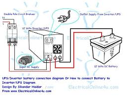 inverter wiring diagram Wiring Diagram For Inverter how to connect ups & inverter to battery and to ac supply wiring diagram for converter charger