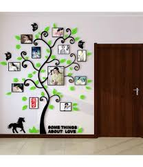 3d acrylic family tree wall stickers with photo frame living room green wall art decal home decoration on family tree wall art picture frame with 3d acrylic family tree wall stickers with photo frame living room