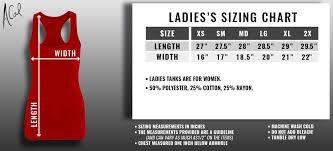 Size Chart Acalapparel