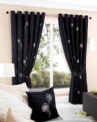 Black And White Curtain Designs New Black And White Bedroom Curtain Stylish Idea Decorating