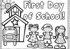Small Picture Download First Day of School Coloring Pages for Kindergarten