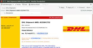 Email Scams Fake Parcel Scam Mimics Dhl Shipment Notification As Email Scams