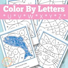 By best coloring pagesnovember 13th 2018. Color By Letters U V W X Y Z Free Kids Printable
