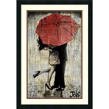 framed art print the red umbrella by loui jover 21 x  on red umbrella metal wall art with framed art print the red umbrella by loui jover 21 x 30 inch art