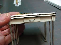 How To Make Kitchen Table Dollhouse Miniature Furniture Tutorials 1 Inch Minis Vintage