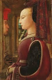 fra filippo lippi italian renaissance painter c 1406 1469 also called lippo lippi portrait of a woman with a man at a casement window