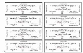Avery Event Tickets Numbered Raffle Ticket Template Unique Raffle Tickets