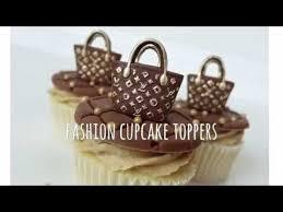 how to make mini fashion purse fondant cupcake topper tutorial