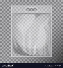 Plastic Packet Design Empty Transparent Blank Plastic Bag Mock Up