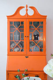 colorful painted furniture. Delighful Colorful Paint Your Hutch A Bright Orange And Make It Statement Piece With Colorful Painted Furniture R