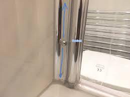 bath screen is a hinged panel
