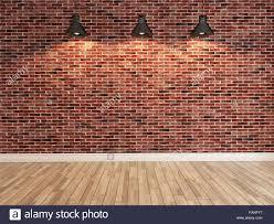 Image Recessed Interior Red Brick Wall Decoration Under Three Light Fitnessmoneyinfo Brick Wall Lighting Democraciaejustica