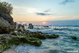 Blue Point (Suluban beach) <b>sunset scenery</b>. <b>Famous</b> surfers place in ...