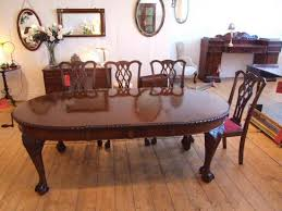 edwardian gany dining table in the chippendale style dining room table chairs with arms
