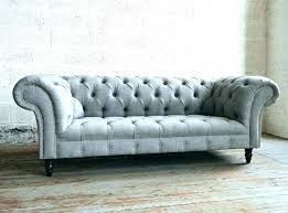 Tufted Sofa Grey Fabric Chesterfield Velour  Couch Blue15