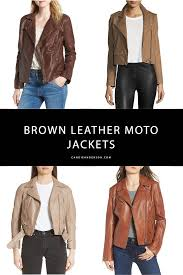 14 best brown leather moto jackets for fall winter