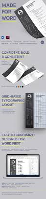 bold resume made for word by wrdmx graphicriver bold resume made for word resumes stationery