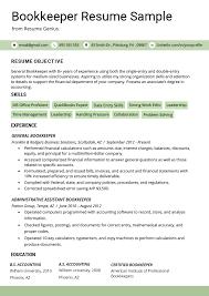 Bookkeeper Resume Sample Guide Resume Genius