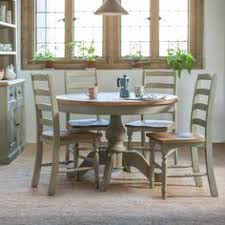 country style in solid reclaimed pine sage green painted dining table and chairs handmade